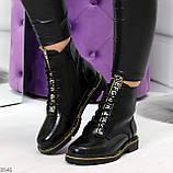 Модные черные женские ботинки с animal тиснением низкий ход, фото 8