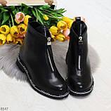 Стильные удобные черные молодежные женские ботинки на флисе, фото 9