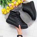 Черные женские молодежные повседневные кроссовки на каждый день, фото 2