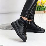 Черные женские молодежные повседневные кроссовки на каждый день, фото 3