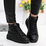Черные женские молодежные повседневные кроссовки на каждый день, фото 4