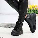 Черные женские молодежные повседневные кроссовки на каждый день, фото 5