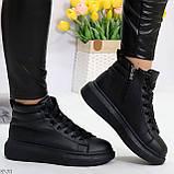 Черные женские молодежные повседневные кроссовки на каждый день, фото 6