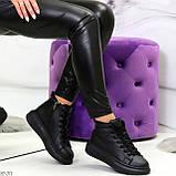 Черные женские молодежные повседневные кроссовки на каждый день, фото 7