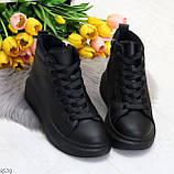 Черные женские молодежные повседневные кроссовки на каждый день, фото 8