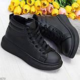 Черные женские молодежные повседневные кроссовки на каждый день, фото 10