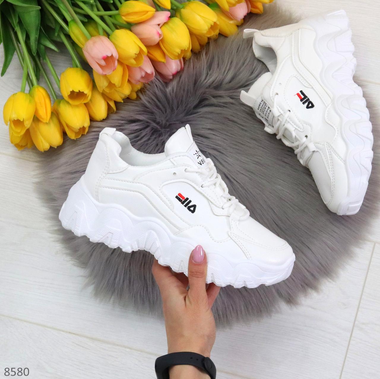 Стильные универсальные белые повседневные женские кроссовки 2021