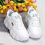 Стильные универсальные белые повседневные женские кроссовки 2021, фото 3