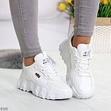 Стильные универсальные белые повседневные женские кроссовки 2021, фото 4