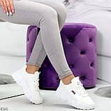 Стильные универсальные белые повседневные женские кроссовки 2021, фото 7