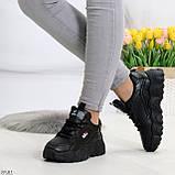 Стильные универсальные черные повседневные женские кроссовки 2021, фото 2