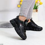 Стильные универсальные черные повседневные женские кроссовки 2021, фото 3