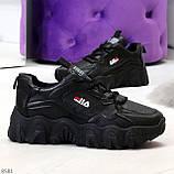 Стильные универсальные черные повседневные женские кроссовки 2021, фото 4