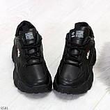 Стильные универсальные черные повседневные женские кроссовки 2021, фото 5