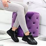Стильные универсальные черные повседневные женские кроссовки 2021, фото 6