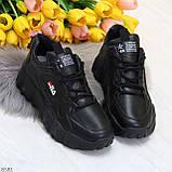 Стильные универсальные черные повседневные женские кроссовки 2021, фото 7