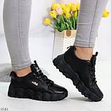Стильные универсальные черные повседневные женские кроссовки 2021, фото 8