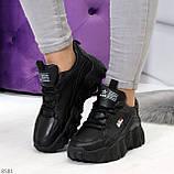 Стильные универсальные черные повседневные женские кроссовки 2021, фото 9