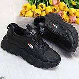 Стильные универсальные черные повседневные женские кроссовки 2021, фото 10