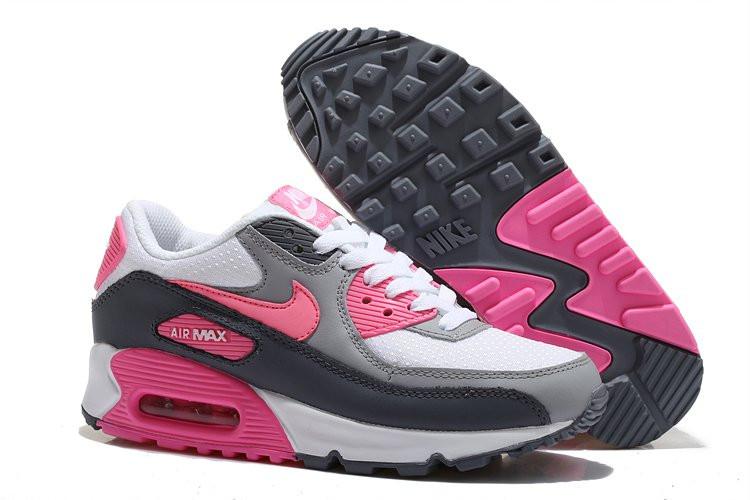 8df1bd8e Кроссовки Женские Nike Air Max 90 (в Стиле Найк Аир Макс) Серые — в ...