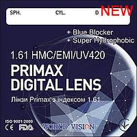 Полимерные линзы  PRIMAX+BLUE BLOCKER ср. -1,61 HMC+EMI+UV420+EP- АСТИГМАТИЗМ