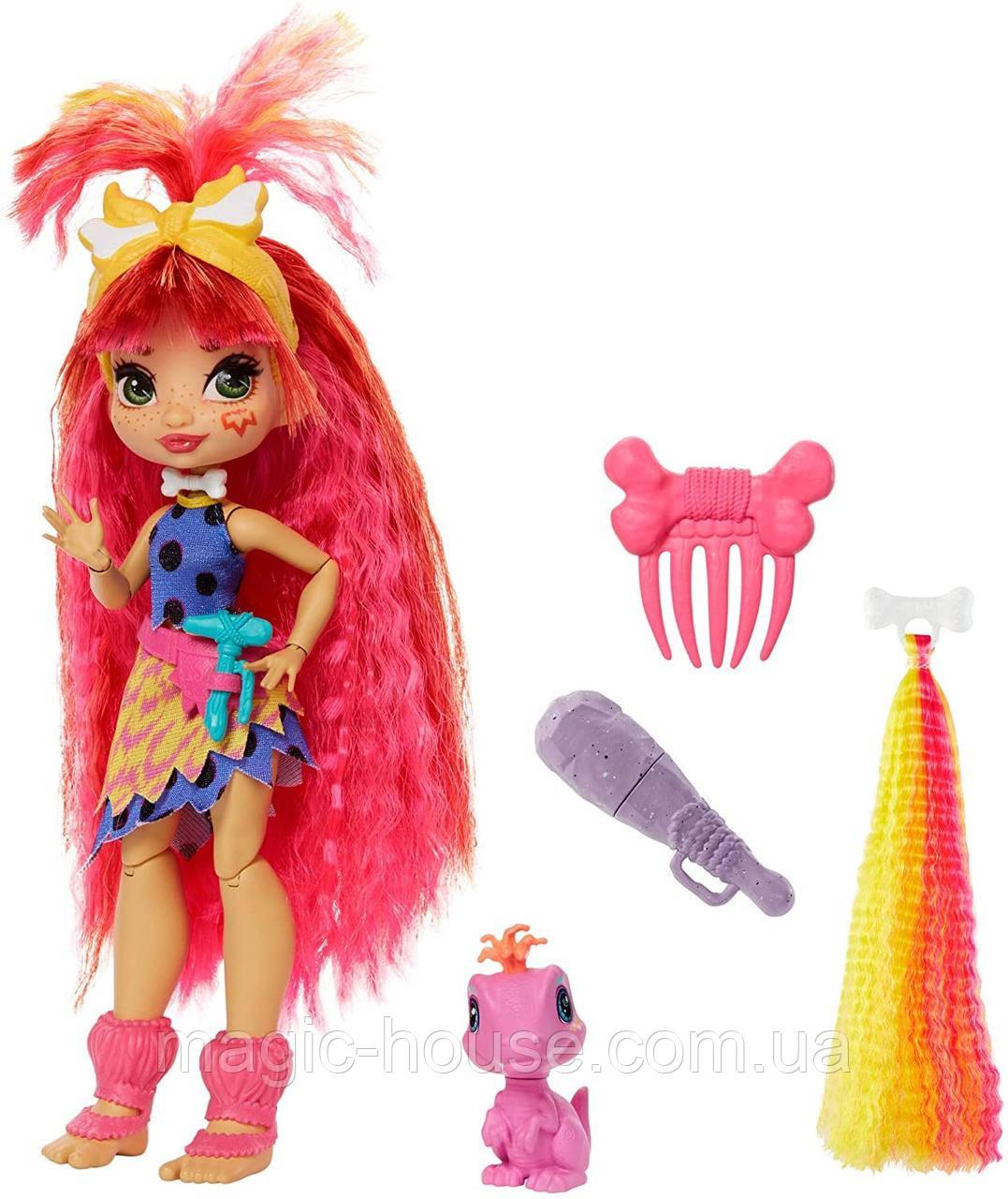 Лялька Емберлі і динозавр Флайре Печерний Клуб Cave Club Emberly Doll