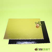 Підложка 300*400 мм (3 мм) посилена,  золото/чорна