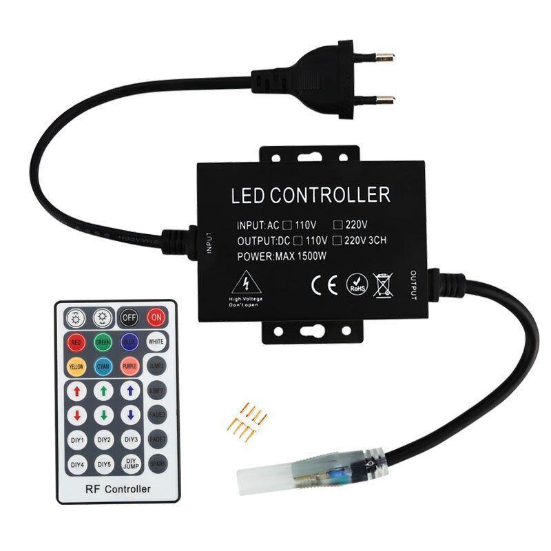 Контроллер 220V NEON RGB 10х20 - AC-2 (1500W; RF; 28K)