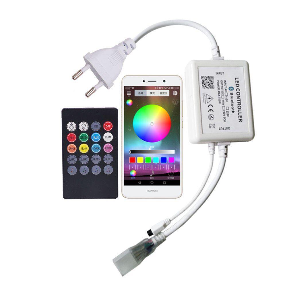 Контроллер 220V NEON RGB 10х20 - AC-4 (720W; IR+Bluetooth; 20K)