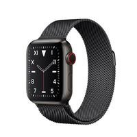 Смарт-часы Apple Watch Series 5 40mm Space Black Titanium Case Black Milanese Loop (MWQR2)