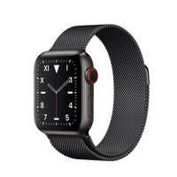 Смарт-часы Apple Watch Series 5 40mm Space Black Titanium Case Black Milanese Loop (MWQR2), фото 2