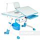 Комплект подростковый👫 парта Amare Blue с выдвижным ящиком + эргономичное кресло FunDesk Solerte Blue, фото 7