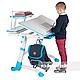 Комплект парта  FunDesk Volare Blue + ортопедическое кресло для подростков FunDesk Contento Grey, фото 3