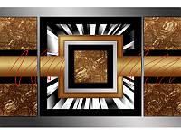 """Модульная картина """"Бронза"""" фотопечать на холсте., фото 1"""