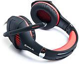 Гарнитура REAL-EL GDX-7600 Black/Red, фото 5