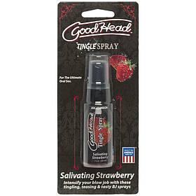 Спрей для минета Doc Johnson GoodHead Tingle Spray – Strawberry (29 мл) с вибрирующим эффектом