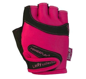 Рукавички для фітнесу PowerPlay 1729 жіночий Розові XS, фото 2