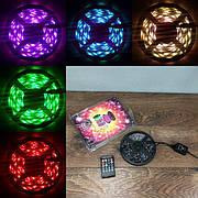 Светодиодная RGB LED лента с пультом музыкальная микрофоном  5 220 вольт ргб диодная подсветка 5в 12v лед 5050
