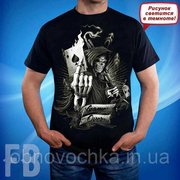 """Чоловіча футболка з черепом """"Game Оver"""" розмір  S"""