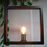 Подвесной светильник SQUARE E27 на 1-лампу, темное дерево, фото 3
