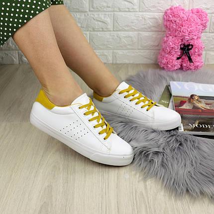 Жіночі кеди Fashion Karol 1223 38 розмір 24,5 см Білий, фото 2