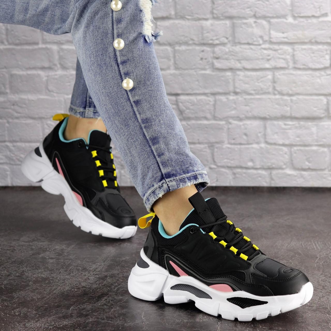 Жіночі кросівки Fashion Nando 1393 37 розмір 23,5 см Чорний