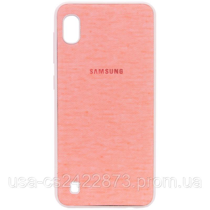 Уценка TPU чехол Textile Logo для Samsung Galaxy A10 (A105F)