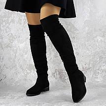 Женские ботфорты Fashion Nabbenna 1371 36 размер 23,5 см Черный, фото 3