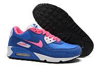 Кроссовки женские  Nike Air Max 90  (найк аир макс, оригинал) синие