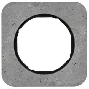 Рамка 1-ная бетон, серый /чёрный Berker R.1
