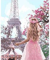 Картина по номерам Влюблённая в Париж 2 40х50 см (KHO4568)