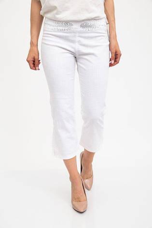Капри женские 123R1786 цвет Белый, фото 2