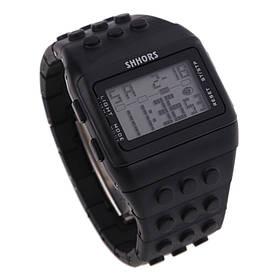 Електронні чоловічі наручні годинники SHHORS SH-715 з підсвічуванням