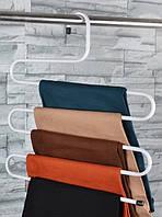 Многоуровневая вешалка для одежды, полотенец белая, металлическая вешалка в ванную   вішак для одягу MKRC